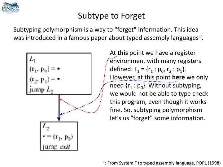 Subtype to Forget