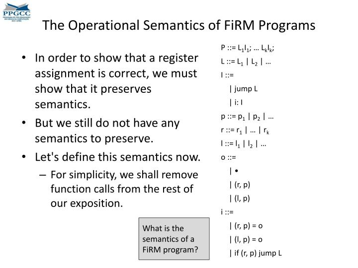 The Operational Semantics of