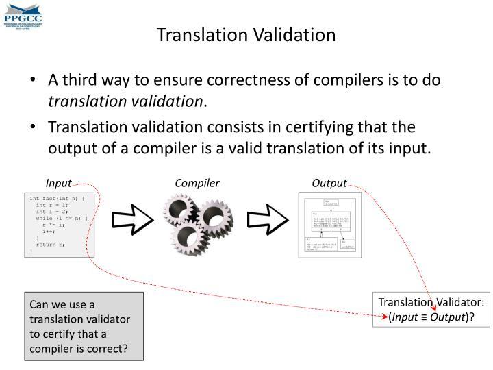 Translation Validation