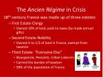 the ancien r gime in crisis