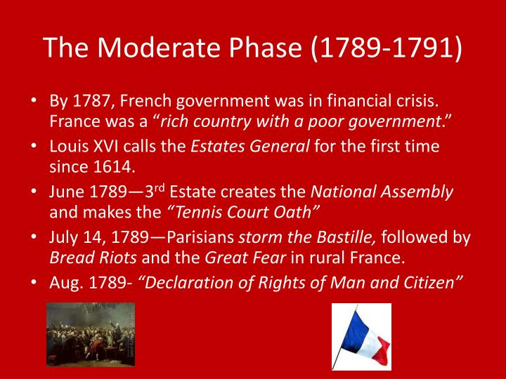 The Moderate Phase (1789-1791)