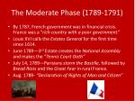 the moderate phase 1789 1791