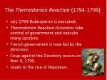 the thermidorian reaction 1794 1799