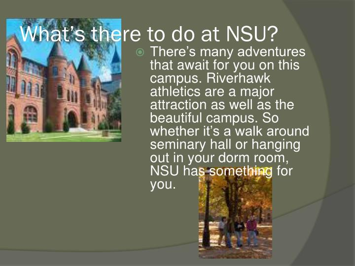 What s there to do at nsu