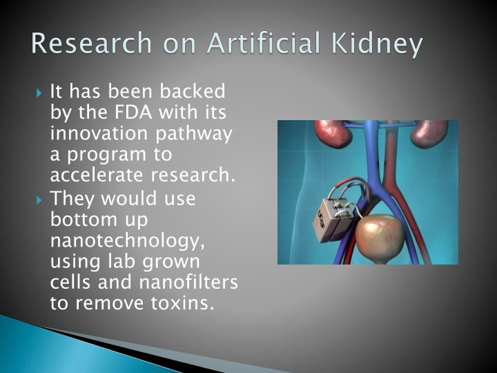 Research on artificial kidney