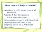 how can you help students
