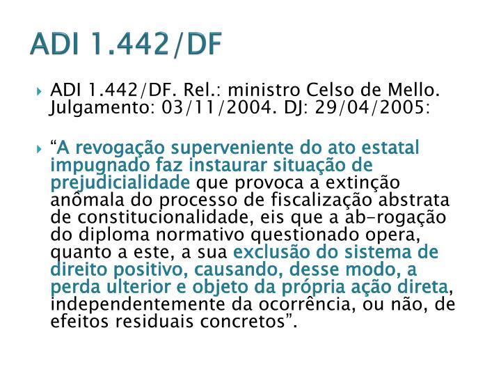 ADI 1.442/DF