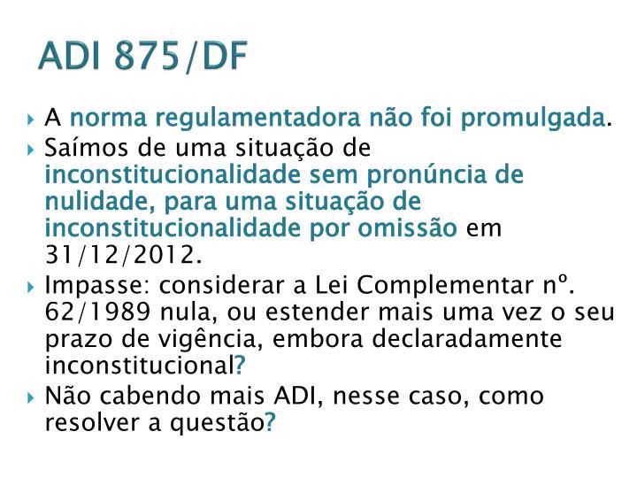 ADI 875/DF