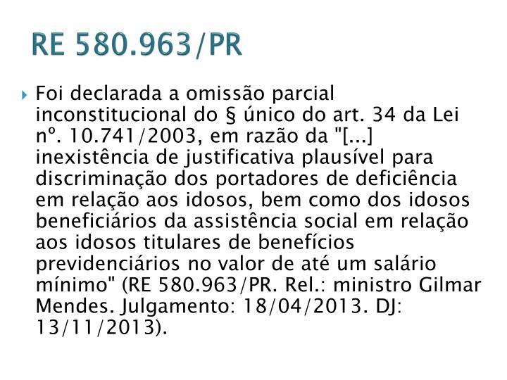 RE 580.963/PR
