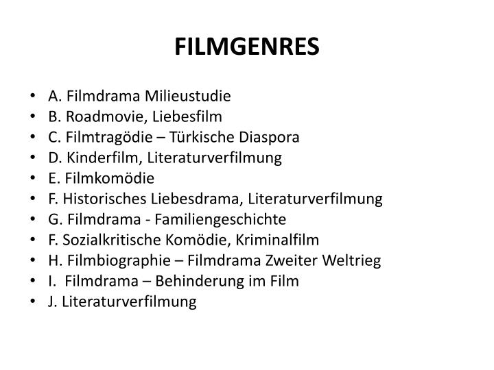 FILMGENRES