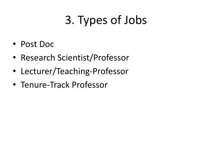 3. Types of Jobs