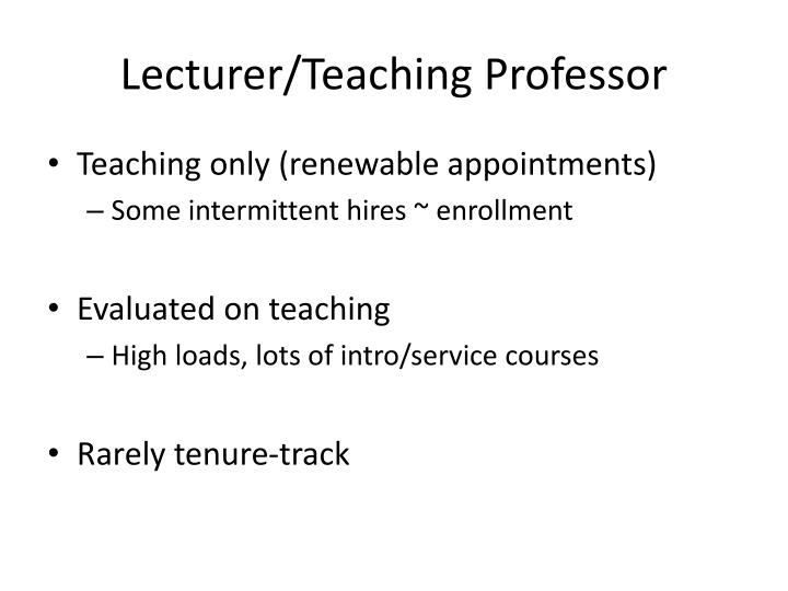 Lecturer/Teaching Professor