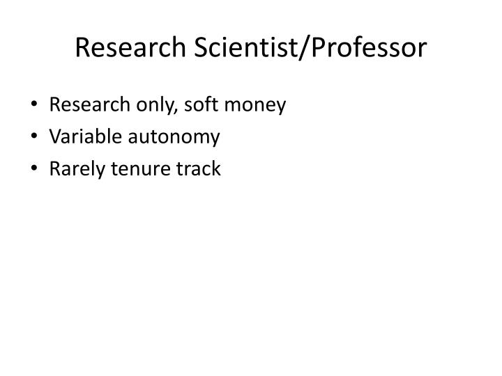 Research Scientist/Professor