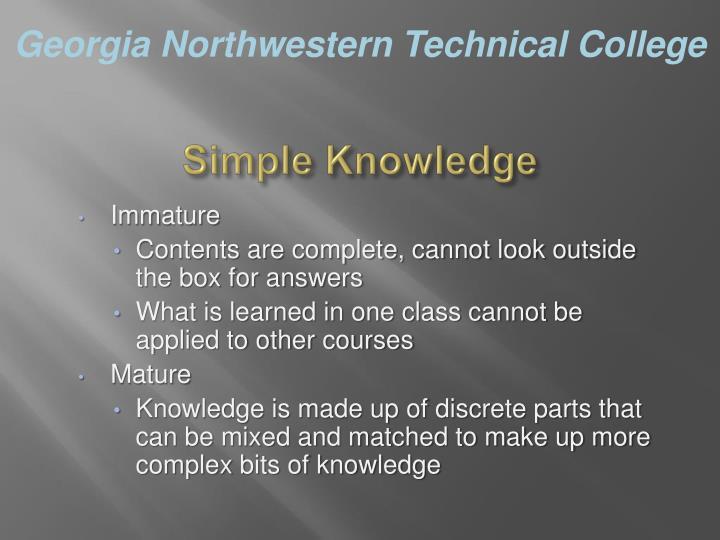 Simple Knowledge