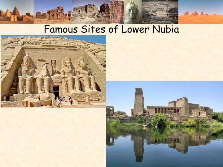 Famous Sites of Lower Nubia