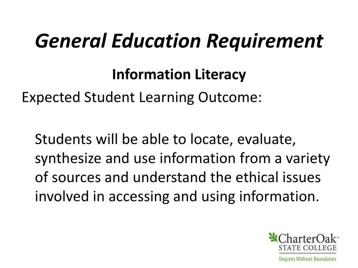 General Education Requirement