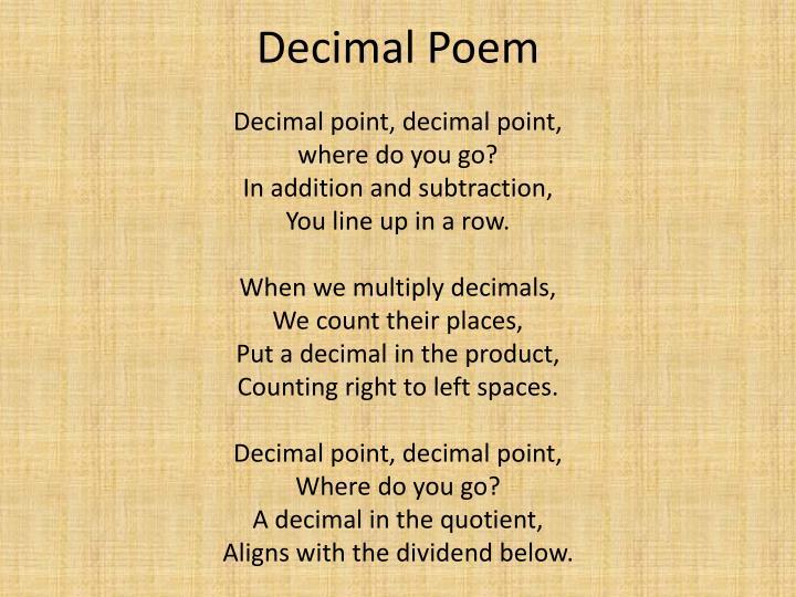 Decimal Poem