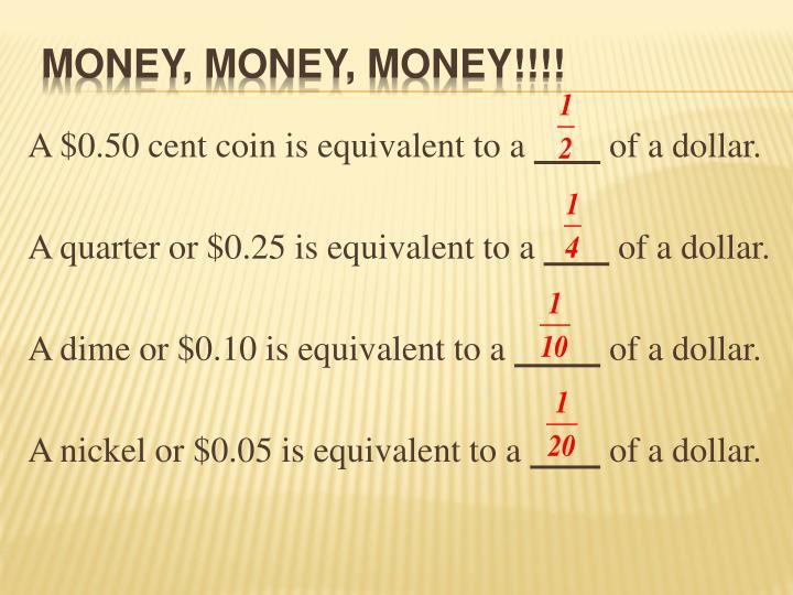 Money, Money, Money!!!!