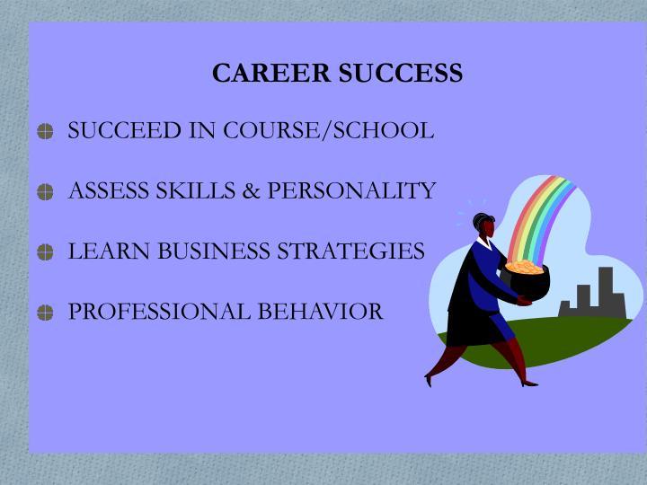 SUCCEED IN COURSE/SCHOOL