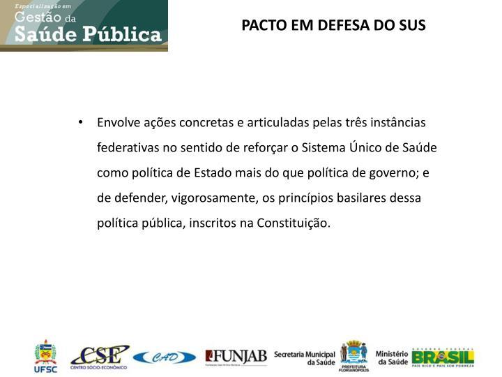 PACTO EM DEFESA DO SUS