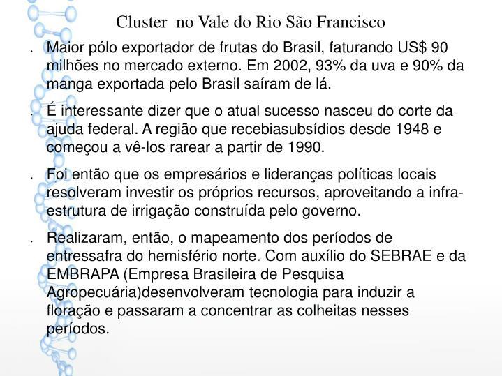 Cluster  no Vale do Rio São Francisco