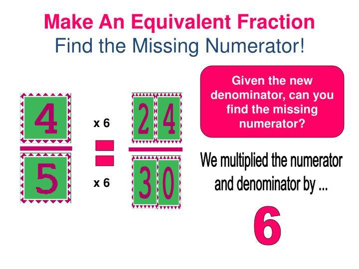 Make An Equivalent Fraction