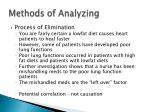methods of analyzing3
