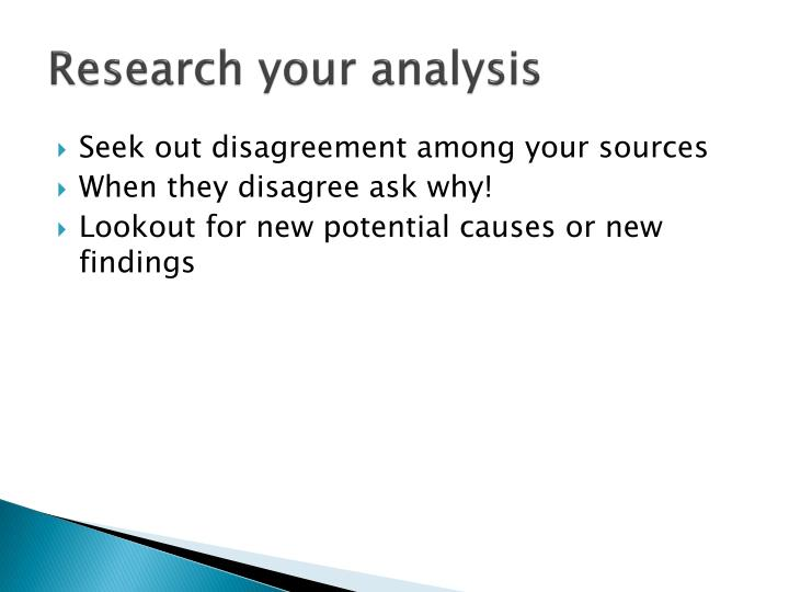 Research your analysis