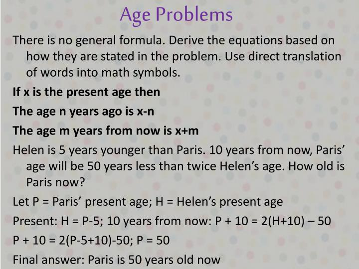 Age Problems