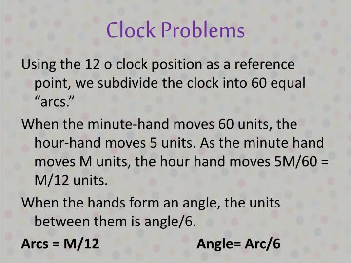 Clock Problems