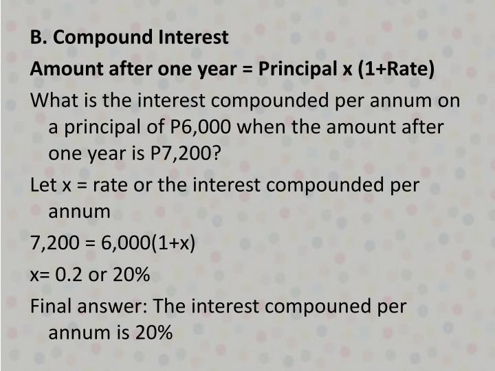 B. Compound Interest