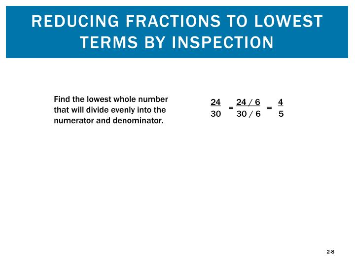 Reducing Fractions to Lowest