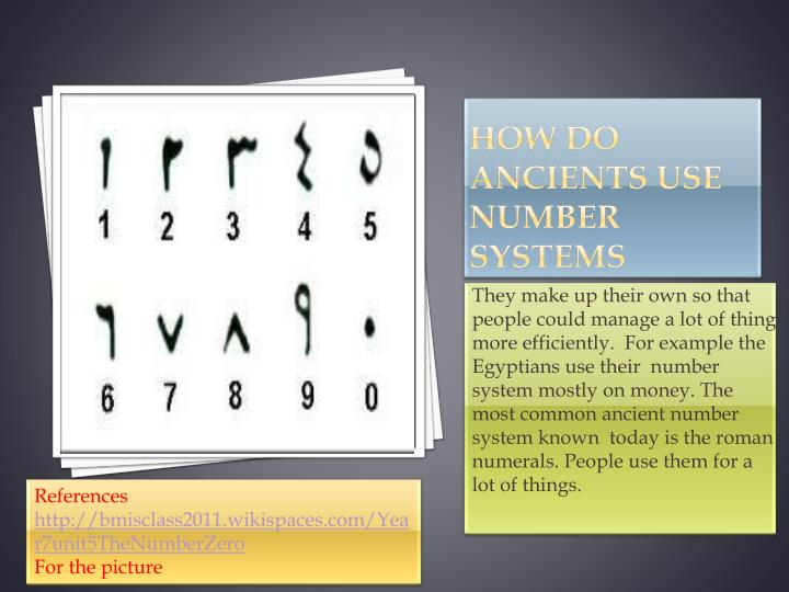 How do ancients use number systems