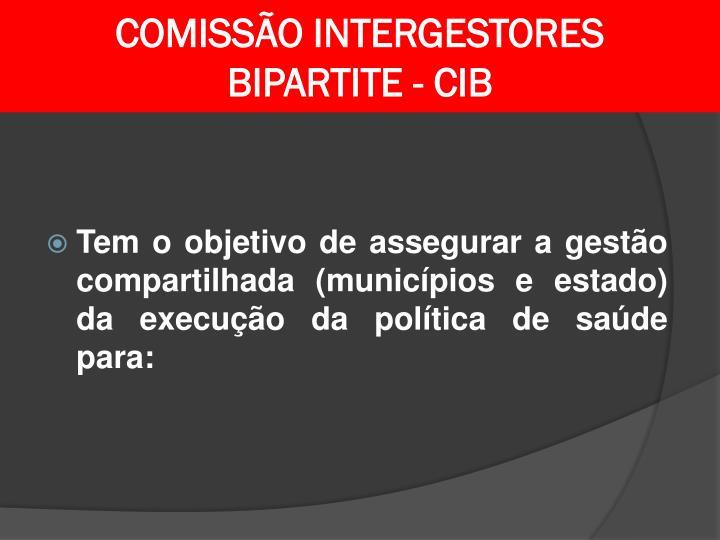 COMISSÃO INTERGESTORES
