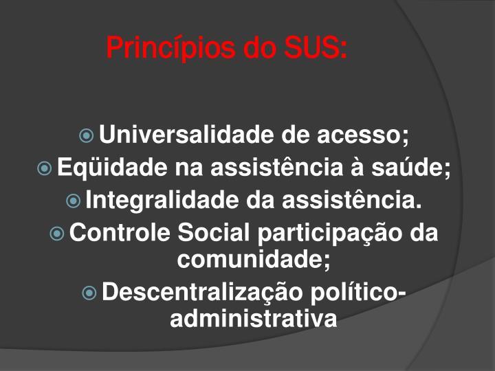 Princípios do SUS: