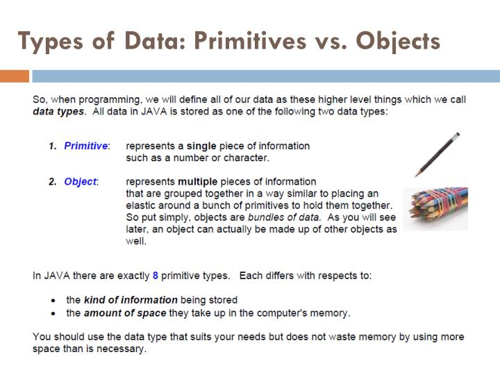 Types of Data: Primitives vs. Objects