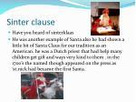 sinter clause