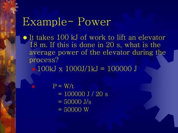 Example- Power