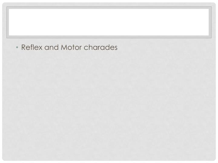 Reflex and Motor charades