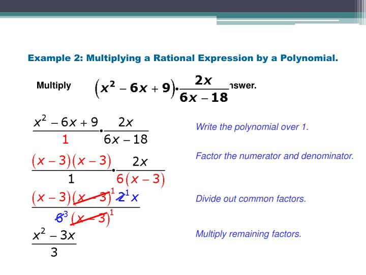 Example 2: Multiplying a Rational Expression by a Polynomial.