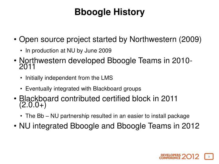 Bboogle History