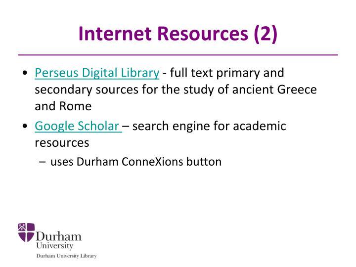 Internet Resources (2)