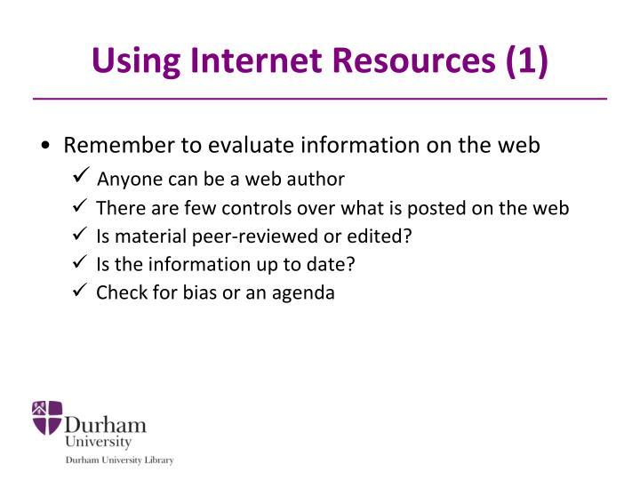 Using Internet Resources (1)