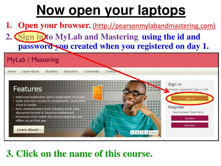 Now open your laptops