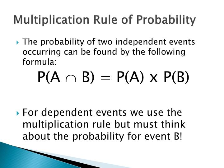 Multiplication Rule of Probability