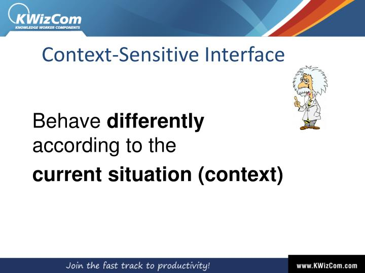 Context-Sensitive Interface