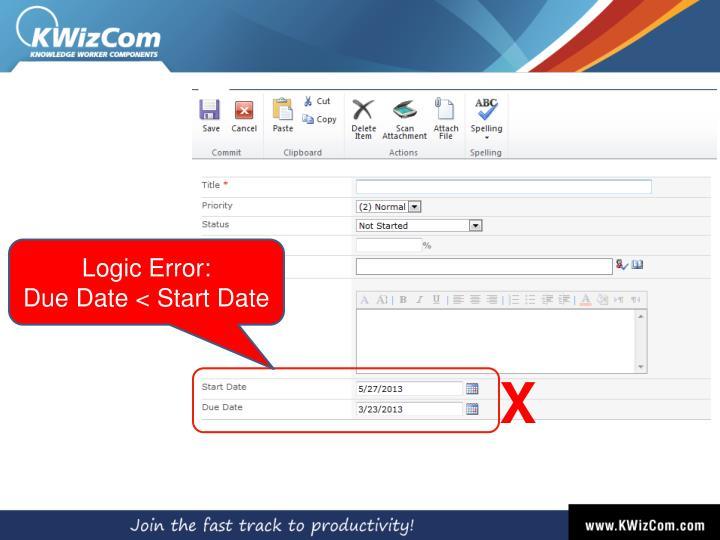 Logic Error: