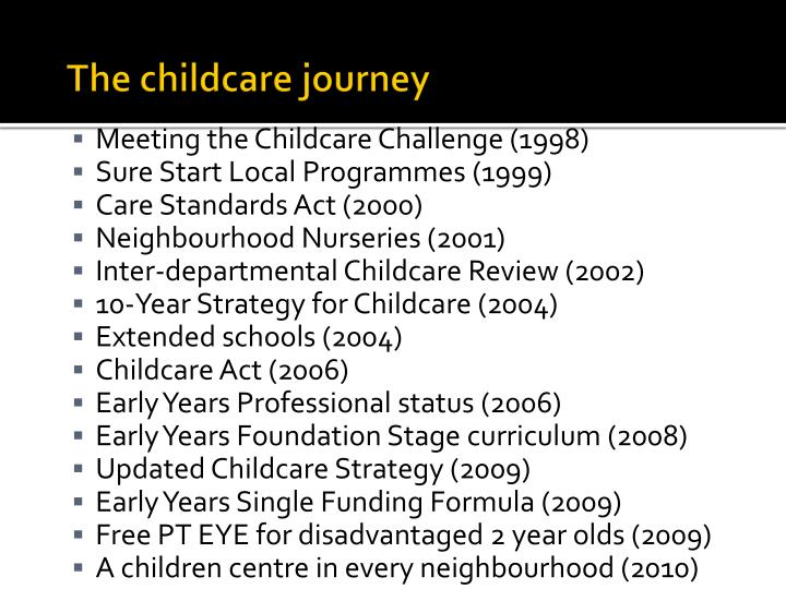 The childcare journey