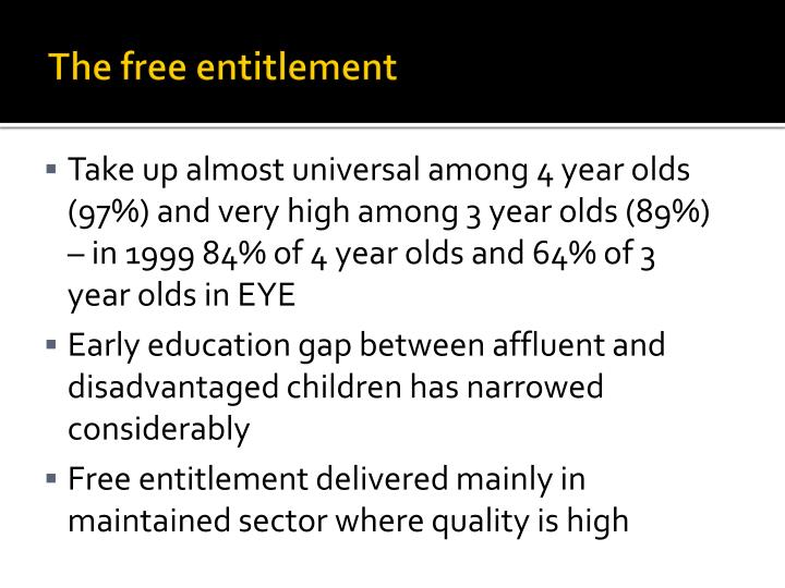 The free entitlement