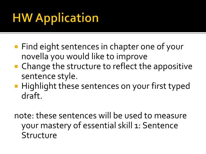 HW Application